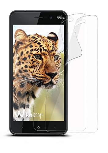 moex 2X Wiko Lenny 4   Schutzfolie Klar Bildschirm Schutz [Crystal-Clear] Screen Protector Display Handy-Folie Dünn Bildschirmschutz-Folie für Wiko Lenny 4 Bildschirmfolie