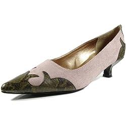 Ornela Brenti 33044-671 Damen Schuhe Premium Qualität Western Pumps Pink (rosa) [EU 42.0]