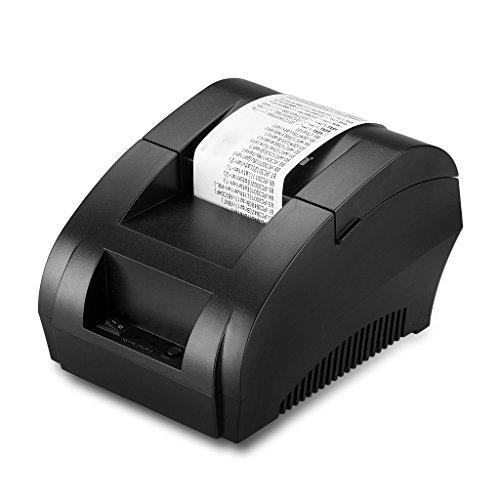 Excelvan E058 Stampante Termica 58mm (USB Punto Ricevuta Stampante, POS Portatile con ESC / POS)