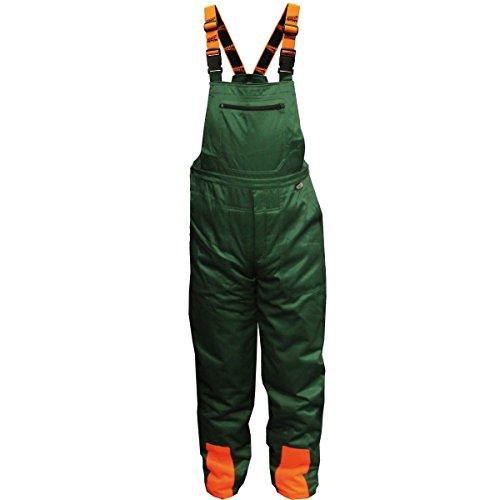 Forstschutz-Latzhose, grün/orange