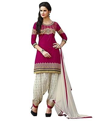 Kvsfab Pink Pure Cotton Patiala Salwar Kameez