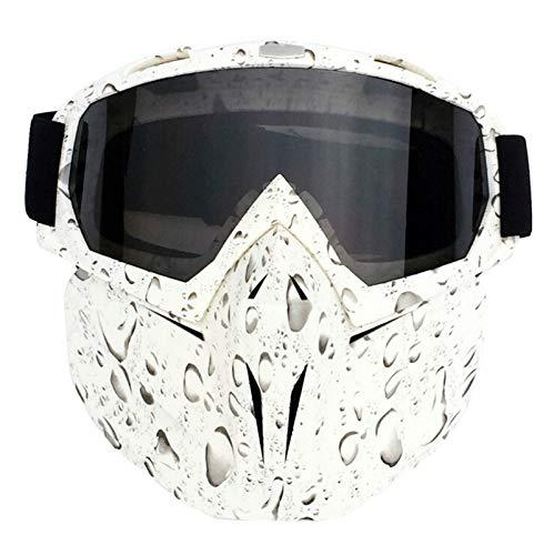 Adisaer Schutzbrille Getönt Retro Gesichtsspiegelbrille Motocross Racing Brille Reitbrille Skibrille Drop Gray Damen Herren