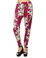 Motel Amaya Trouser in Blur Flower Aubergine