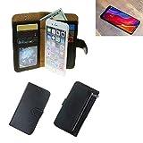 K-S-Trade Für Xiaomi Mi Mix 3 Portemonnaie Schutz Hülle schwarz aus Kunstleder Walletcase Smartphone Tasche für Xiaomi Mi Mix 3 - vollwertige Geldbörse mit Handyschutz