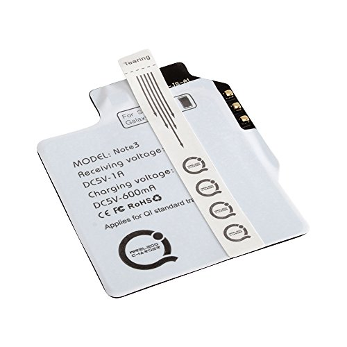 ANSMANN Wireless Charging Qi Receiver Empfänger für Smartphone Samsung Galaxy Note 3 - induktives Laden mit Qi Charger für Qi Ladestationen (Ladestationen Für Samsung)