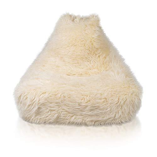 Keiko M Shaggy Sessel Sitzsack Bezug, aus Künstlichem Pelz, Perfekte Passform für Country...