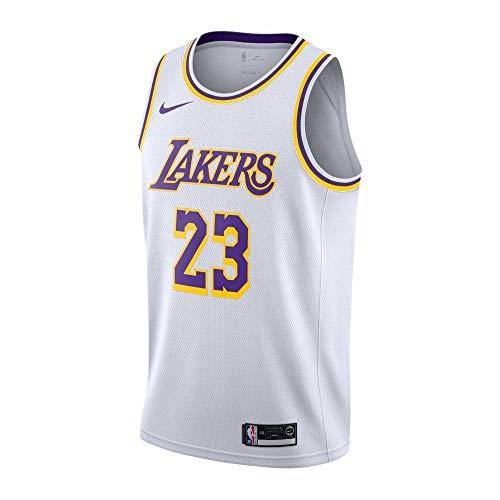 Nike NBA Los Angeles Lakers Lebron James Swingman Jersey - Association Edition Medium -