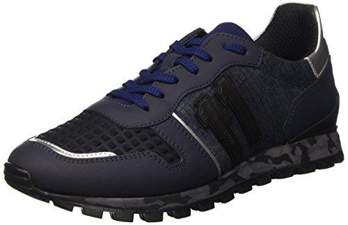 Bikkembergs Numb-Er 650 Shoe M Leather/Lycra, Scarpe Low-Top Uomo, Blu (Navy), 43 EU