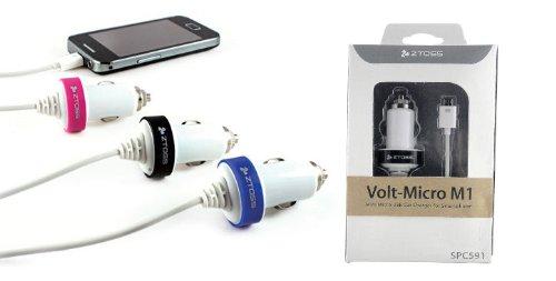 CLiPtec Blackberry Micro B USB schwarz mit Spiralkabel In-Autoladegerät für Blackberry Bold/Curve/Grundblei/Flipcase/Javelin/Pearl/Taschenlampe - 8220, 8520, 8530, 8900, 9100, 9105, 9109, 9300, 9320, 9360, 9380, 9500, Storm2, 9520, 9530, 9550, 9630, 9700, 9780, 9790, 9800, 9900 -
