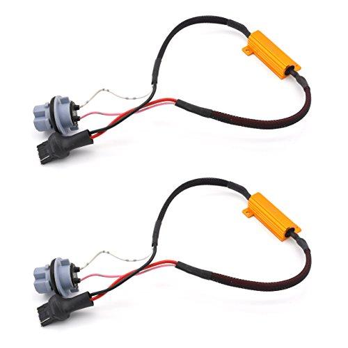 KaTur 250W 8Ohm-90069005Lastwiderstand Anschluss Auto LED Blinker Leuchtmittel Nebelscheinwerfer Tagfahrlicht Fehlerfrei cancellor Kondensator Decoder Draht