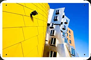 Frank Gehry Architecture Metal Poster enseigne marque 20x30cm