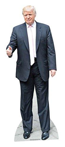 Star Cutouts Pappaufsteller von Donald Trump, mit Rosafarbener Krawatte, Lebensgröße, Mehrfarbig