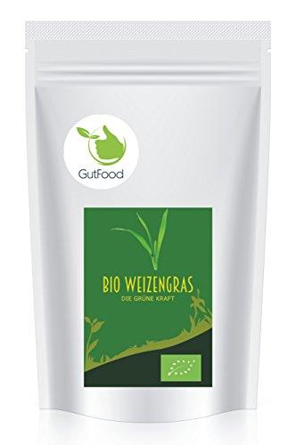 Goldener Zweig – 1000g naturreines BIO Weizengras gemahlen aus Deutschland – 1kg - Bio Weizengras Pulver Bio Weizengraspulver - rückstandskontrollierte Spitzenware in wiederverschließbarer Verpackung