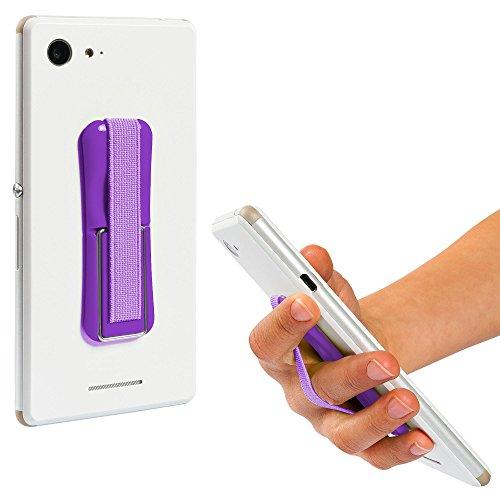 ECENCE Handy Finger-Halter Finger-Griff Selfie Ständer Handy Halterung Lila 12040202