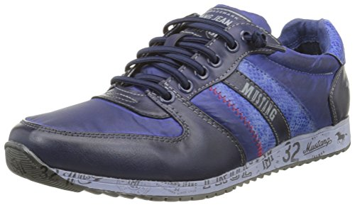 Mustang 4104401, Chaussures de Sport Homme Bleu (800 Dunkelblau)