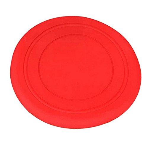 Malloom® Giocattolo per Cane Gioco Frisbee Formazione Disco Volante Denti Disco Fetch (Rosso)