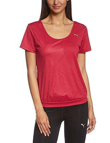 PUMA Damen T-Shirt Gym Loose Bubble Tee, Cerise, M, 512030 04 (Bubble Logo T-shirt)