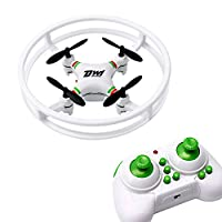Dwi Dowellin D1 Mini Drone RC Quadcopter 360° Flips and Rolls Remote Control Headless Mode One Key Return Spin Micro UFO Toy, 2.4G 4CH 6Axis 3D Flip LED RTFGift for Kids Adults