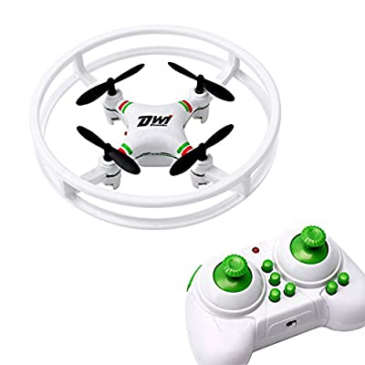 FSSJCKX RC Quadcopter 6-Axis Gyro UFO Aircraft DWI DOWELLIN D1 Mini Drone 2.4Ghz 4CH Anti-collision Drones For Beginners Kids D1 White