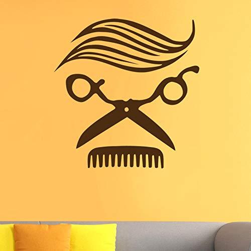 lyclff Mann Friseur Aufkleber Name Chop Brot Aufkleber Haarschnitt Haarschneider Rasierer Poster VinylWandkunst AufkleberWindows80 * 80 cm England Brot
