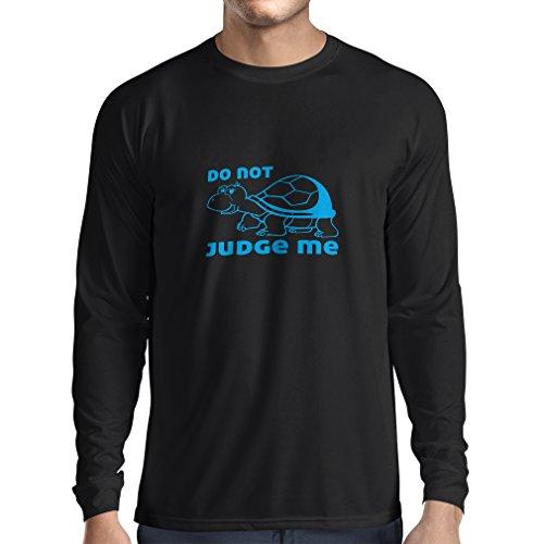 N4318L T-Shirt mit langen Ärmeln Verurteile mich nicht ... (XXX-Large Schwarz Blau) (Lange Ärmel Hugs Free)