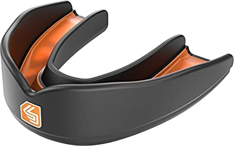 Shock Doctor Boy's Ultra Rugby Mouth Guard - Black/Orange, Youth