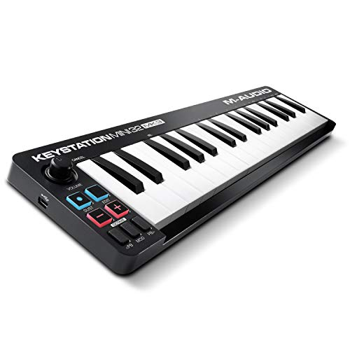 M-Audio Keystation Mini 32 MK3 - Ultra-portabler Mini USB MIDI Keyboard Controller mit ProTools First | M-Audio Edition und Xpand!2 von Air Music