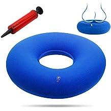 Nuobk Cojín Inflable Redondo,Cojín de Bedsore Cushion y Bomba, Confortable Almohada para El