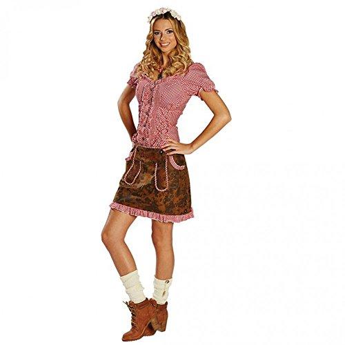 Kostüm Oktoberfest - Damen Trachtenrock Gr. 34- 44 Lederoptik braun Oktoberfest Kostüm Rock Bayern (40)