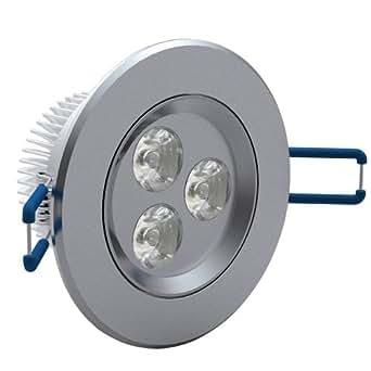 vidaXL Lot de 12 spots encastrables LED Blanc chaud 3 W