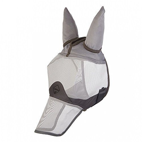 lemieux-unisex-comfort-shield-full-fly-mask-silver-grey-wool-x-large