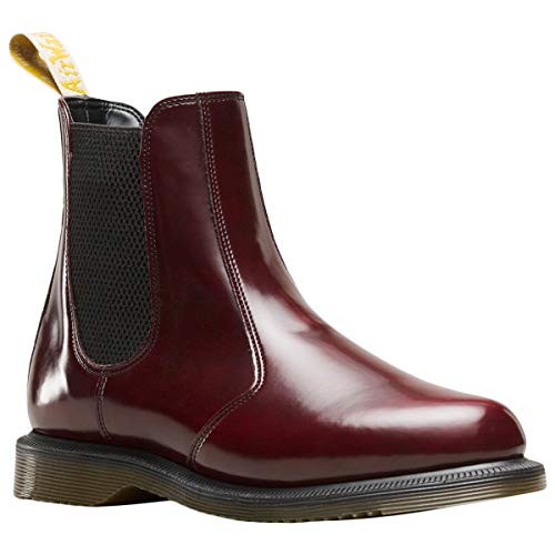 Dr. Martens Flora Polished Smooth W Stivale Cherry Red
