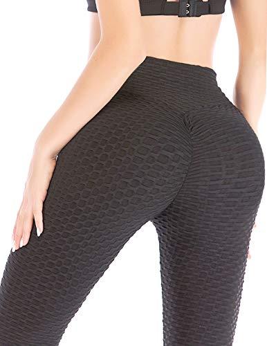AFUT Damen Anti-Cellulite Kompression Leggings Po Push up Hohe Taille Strukturierte Sport Leggings Yoga Pants Fitness Hosen Elastische Trousers Slimming Strumpfhose Jogginghose