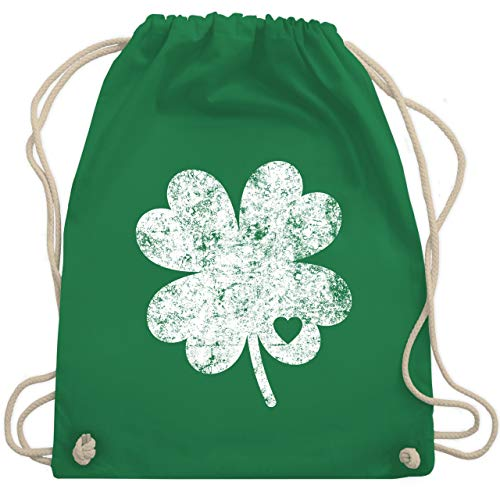 St. Patricks Day - Vintage Kleeblatt mit Herz - Unisize - Grün - WM110 - Turnbeutel & Gym Bag (Paddy's Day Kostüm)