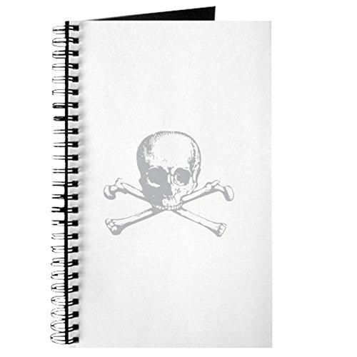 opf und gekreuzte Knochen-Spiralbindung Journal Notebook, persönliches Tagebuch, Dot Grid ()