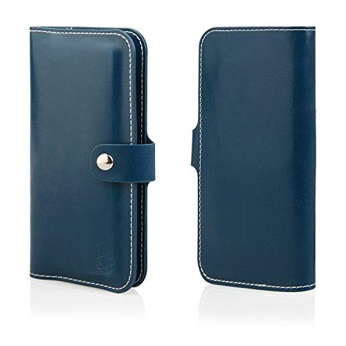 MOELECTRONIX HQ Buch Tasche BLAU Klapp Schutz Hülle Wallet Flip Case Etui für ShiftPhone Shift5.1