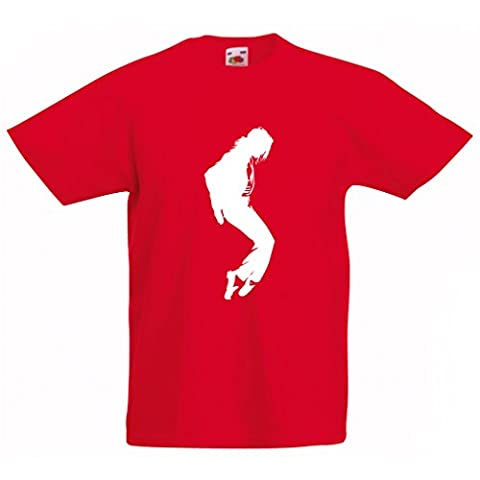 T shirts for kids I love MJ - fan club clothes, concert clothing (9-11 years Red White)