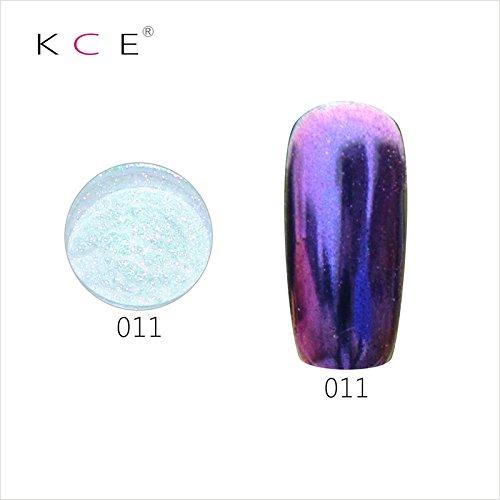 topbeauty Nail Art Paillettes Brillant miroir chrome Pigment poudre Nail Art Outils avec éponge à 11