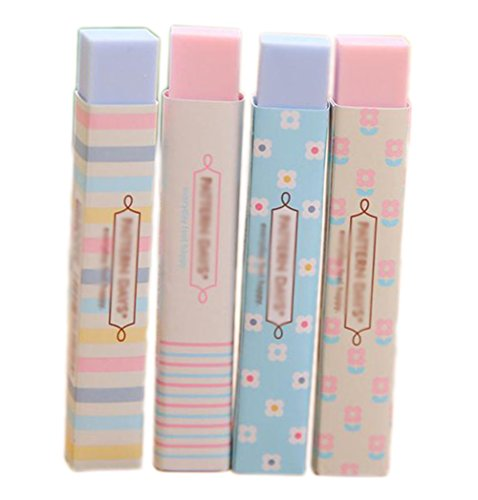 weimay Blöcke Sortiment Farben Entwurf Cute Kawaii Colored Long Strip Gummi Pink und Blau-Entwurf...