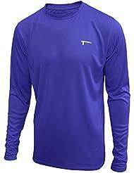 TREN Herren COOL Ultra Lightweight Polyester LS Tee Funktionsshirt T-Shirt Langarm