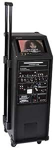 Ibiza PORT9CD-VHF Sono Portable amplifiée avec DVD, USB/MP3, Micro VHF