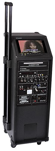 Ibiza Port9 Mobile Multimedia Pa-Komplettanlage 400W (DVD-Player, USB-MP3, Mischpult, 6h Akku) inkl. VHF Funk- & Kabelmikrofon