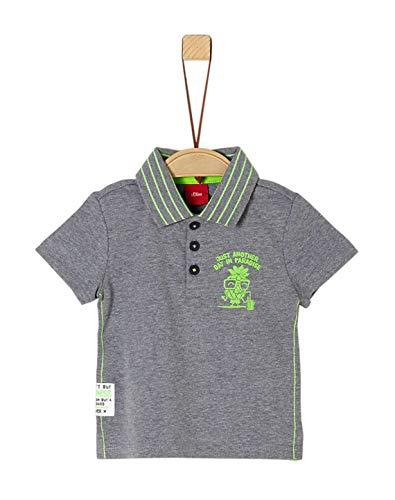 s.Oliver Schick, Schlichtes Polo Shirt Kurzarm in Hellgrau Melange für Boys Baby 5933 (80)