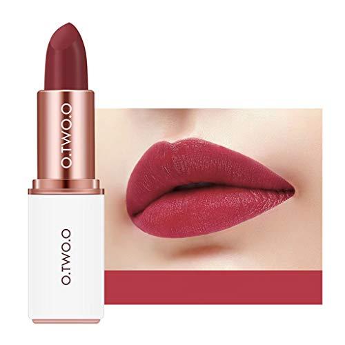 SCEMARK Damen Wasserdichter Lippenstift Matte Pumpkin Colour Lipstick Eat Earth Rich Vitamin e Moisture Samtmatter Lippenstift Matte Textur hält lange an -
