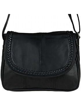 Kleine Lambskin Damen Leder Tasche Handtasche Überschlag Umhängetasche Schultertasche Clutch Damentasche Ledertaschen