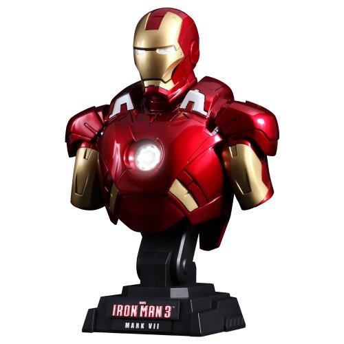 Hot Toys - Iron Man 3 buste 1/4 Iron Man Mark VII 23 cm