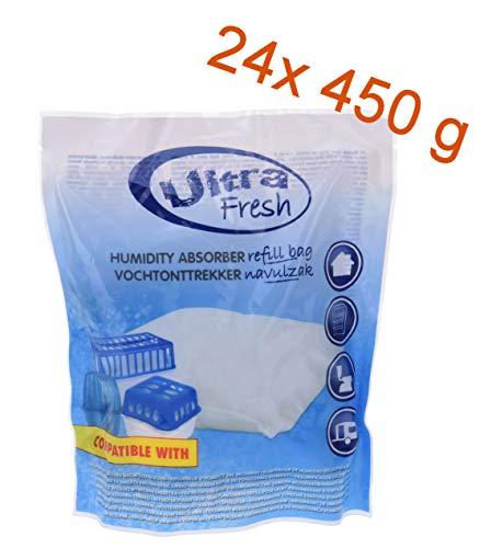 24x 450g Luftentfeuchter Nachfüllpack - Nachfüllbeutel für Raum Entfeuchter Raumtrockner