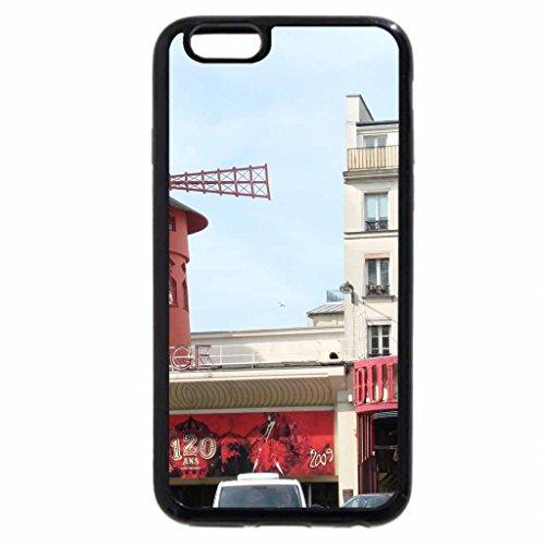 iPhone 6S / iPhone 6 Case (Black) Paris Vacation 8 Moulin Rouge since 1889
