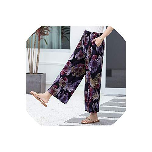 Women Beach Wide Leg Pants Plus Size 4XL Loose High Waist Pants Female Summer Pants for Women Trousers Ladies Clothing,22,4XL -