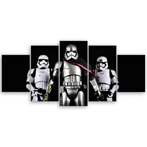 ge Bildet® hochwertiges Leinwandbild XXL - Stormtrooper VI - 150 x 70 cm mehrteilig (5 teilig) 3058